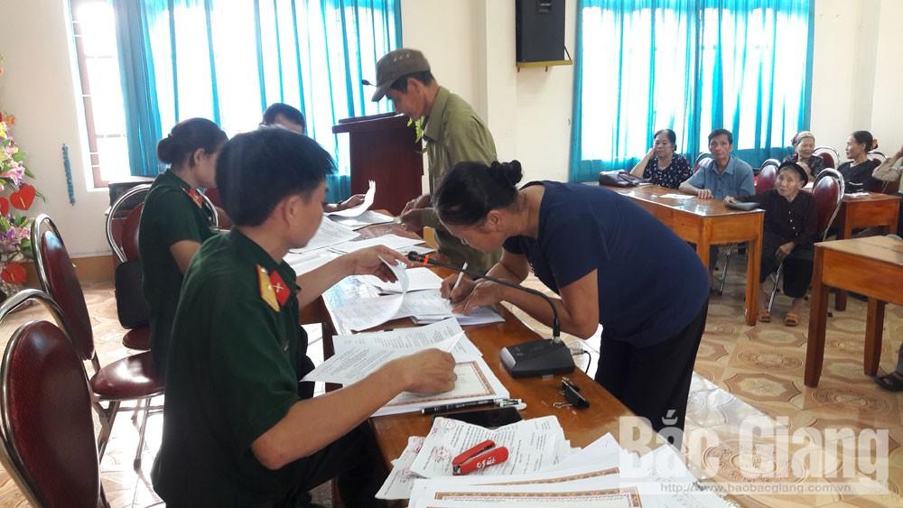 Lạng Giang: Hơn 440 triệu đồng chi trả cho dân công hỏa tuyến